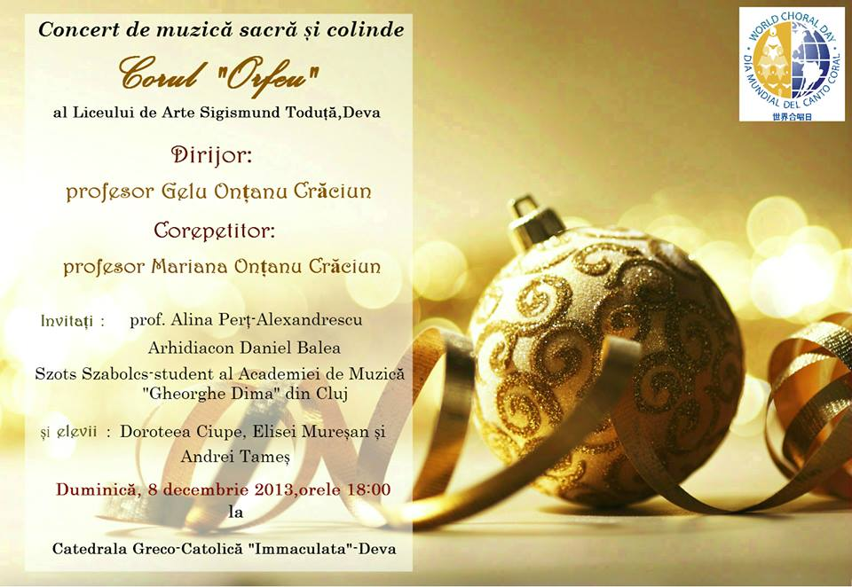 Afis concert Orfeu